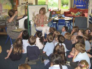 Gillian visiting a school